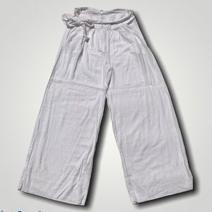 Free People White Linen Wide Leg Palazzo Pants 12